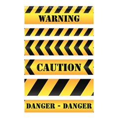 Caution Road Sign Warning Cross Danger Yellow Chevron Line Black Shower Curtain 48  X 72  (small)  by Alisyart