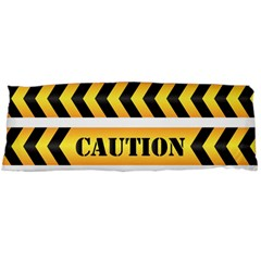 Caution Road Sign Warning Cross Danger Yellow Chevron Line Black Body Pillow Case (dakimakura) by Alisyart