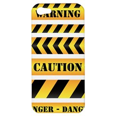 Caution Road Sign Warning Cross Danger Yellow Chevron Line Black Apple Iphone 5 Hardshell Case by Alisyart