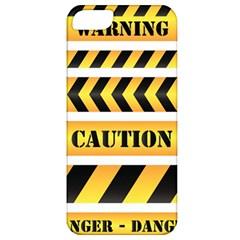 Caution Road Sign Warning Cross Danger Yellow Chevron Line Black Apple Iphone 5 Classic Hardshell Case by Alisyart