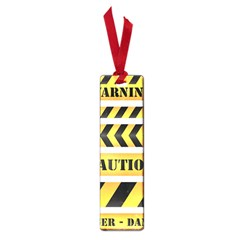 Caution Road Sign Warning Cross Danger Yellow Chevron Line Black Small Book Marks by Alisyart