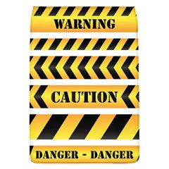 Caution Road Sign Warning Cross Danger Yellow Chevron Line Black Flap Covers (l)  by Alisyart