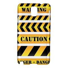 Caution Road Sign Warning Cross Danger Yellow Chevron Line Black Samsung Galaxy Note 3 N9005 Hardshell Case by Alisyart