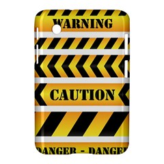Caution Road Sign Warning Cross Danger Yellow Chevron Line Black Samsung Galaxy Tab 2 (7 ) P3100 Hardshell Case  by Alisyart