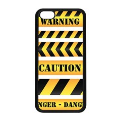 Caution Road Sign Warning Cross Danger Yellow Chevron Line Black Apple Iphone 5c Seamless Case (black) by Alisyart
