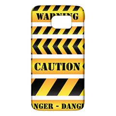 Caution Road Sign Warning Cross Danger Yellow Chevron Line Black Galaxy S6 by Alisyart