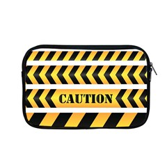 Caution Road Sign Warning Cross Danger Yellow Chevron Line Black Apple Macbook Pro 13  Zipper Case by Alisyart