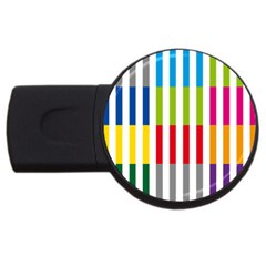 Color Bars Rainbow Green Blue Grey Red Pink Orange Yellow White Line Vertical Usb Flash Drive Round (2 Gb) by Alisyart