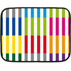 Color Bars Rainbow Green Blue Grey Red Pink Orange Yellow White Line Vertical Double Sided Fleece Blanket (mini)  by Alisyart