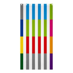 Color Bars Rainbow Green Blue Grey Red Pink Orange Yellow White Line Vertical Shower Curtain 36  X 72  (stall)  by Alisyart