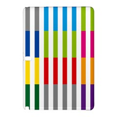 Color Bars Rainbow Green Blue Grey Red Pink Orange Yellow White Line Vertical Samsung Galaxy Tab Pro 12 2 Hardshell Case