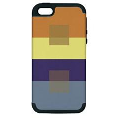 Color Therey Orange Yellow Purple Blue Apple Iphone 5 Hardshell Case (pc+silicone) by Alisyart