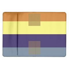 Color Therey Orange Yellow Purple Blue Samsung Galaxy Tab 10 1  P7500 Flip Case by Alisyart