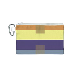 Color Therey Orange Yellow Purple Blue Canvas Cosmetic Bag (s) by Alisyart
