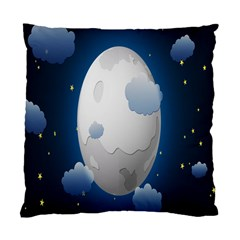 Cloud Moon Star Blue Sky Night Light Standard Cushion Case (two Sides) by Alisyart