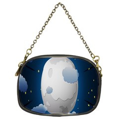 Cloud Moon Star Blue Sky Night Light Chain Purses (two Sides)  by Alisyart