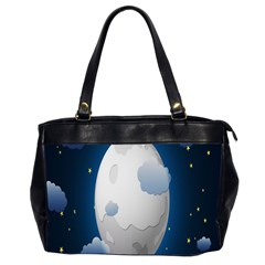 Cloud Moon Star Blue Sky Night Light Office Handbags (2 Sides)  by Alisyart