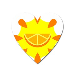 Citrus Cutie Request Orange Limes Yellow Heart Magnet by Alisyart