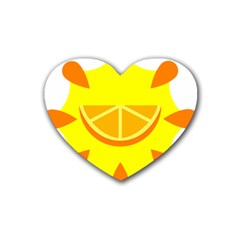 Citrus Cutie Request Orange Limes Yellow Heart Coaster (4 Pack)  by Alisyart
