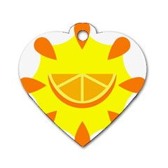 Citrus Cutie Request Orange Limes Yellow Dog Tag Heart (one Side) by Alisyart