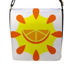 Citrus Cutie Request Orange Limes Yellow Flap Messenger Bag (l)  by Alisyart