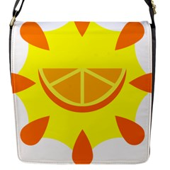 Citrus Cutie Request Orange Limes Yellow Flap Messenger Bag (s) by Alisyart
