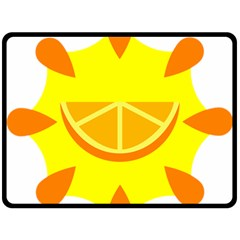 Citrus Cutie Request Orange Limes Yellow Double Sided Fleece Blanket (large)  by Alisyart