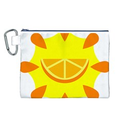 Citrus Cutie Request Orange Limes Yellow Canvas Cosmetic Bag (l) by Alisyart