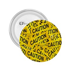 Caution Road Sign Cross Yellow 2 25  Buttons by Alisyart
