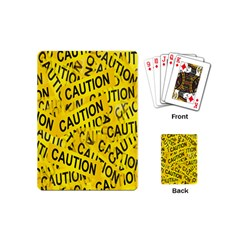 Caution Road Sign Cross Yellow Playing Cards (mini)  by Alisyart