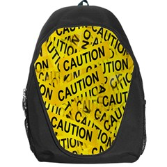 Caution Road Sign Cross Yellow Backpack Bag by Alisyart