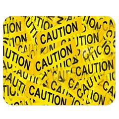 Caution Road Sign Cross Yellow Double Sided Flano Blanket (medium)  by Alisyart