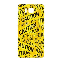 Caution Road Sign Cross Yellow Samsung Galaxy Alpha Hardshell Back Case by Alisyart