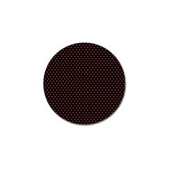 Colored Circle Red Black Golf Ball Marker (4 Pack) by Alisyart