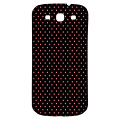 Colored Circle Red Black Samsung Galaxy S3 S Iii Classic Hardshell Back Case by Alisyart