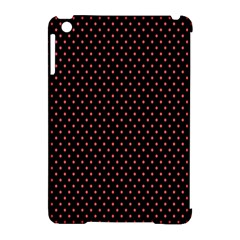 Colored Circle Red Black Apple Ipad Mini Hardshell Case (compatible With Smart Cover) by Alisyart