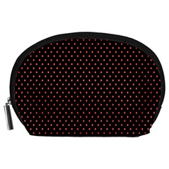 Colored Circle Red Black Accessory Pouches (large)  by Alisyart