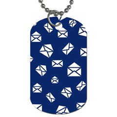 Envelope Letter Sand Blue White Masage Dog Tag (two Sides) by Alisyart