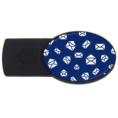 Envelope Letter Sand Blue White Masage Usb Flash Drive Oval (2 Gb) by Alisyart