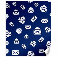 Envelope Letter Sand Blue White Masage Canvas 16  X 20   by Alisyart