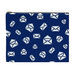 Envelope Letter Sand Blue White Masage Cosmetic Bag (xl) by Alisyart