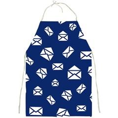 Envelope Letter Sand Blue White Masage Full Print Aprons by Alisyart