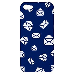 Envelope Letter Sand Blue White Masage Apple Iphone 5 Hardshell Case by Alisyart