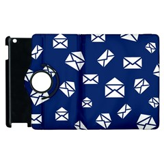 Envelope Letter Sand Blue White Masage Apple Ipad 3/4 Flip 360 Case by Alisyart