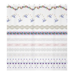 Bird Fly Butterfly Flower Floral Rose Blue Red Pink Shower Curtain 66  X 72  (large)  by Alisyart