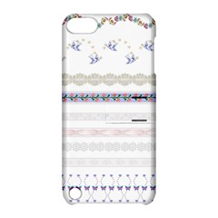 Bird Fly Butterfly Flower Floral Rose Blue Red Pink Apple Ipod Touch 5 Hardshell Case With Stand by Alisyart
