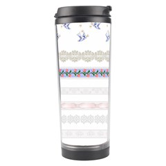 Bird Fly Butterfly Flower Floral Rose Blue Red Pink Travel Tumbler by Alisyart