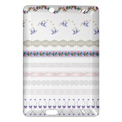 Bird Fly Butterfly Flower Floral Rose Blue Red Pink Amazon Kindle Fire Hd (2013) Hardshell Case by Alisyart