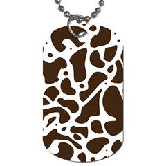 Dalmantion Skin Cow Brown White Dog Tag (one Side) by Alisyart