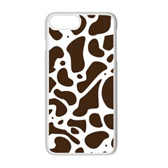 Dalmantion Skin Cow Brown White Apple Iphone 7 Plus White Seamless Case by Alisyart